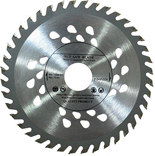 Hoogwaardig zaagblad voor 125 mm, voor houten doorslijpschijven, rond, 125 mm x 22 mm x 40 mm tanden