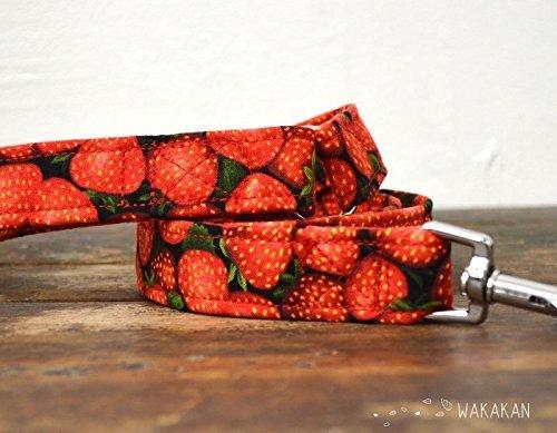 Correa Para Perro: Strawberries, Hecha a Mano en España por Wakakán: Amazon.es: Handmade