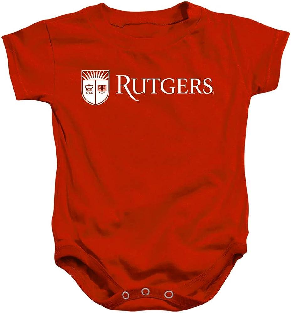 Rutgers University Official Block Text sale Unisex Infant Snap Sale SALE% OFF Suit f