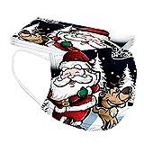 Blingko 10 Stück Erwachsene Motiv Weihnachten Lustig Muster 3Lagig Atmungsaktive Weihnachtsmotiv Sport Bandana für Damen Männer