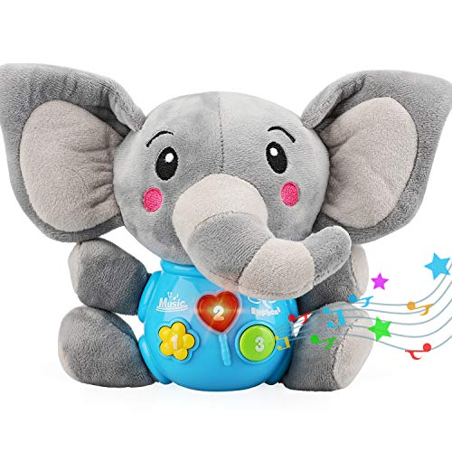 STEAM Life Plush Elephant Baby Toys - Educational Baby Toy - Baby Musical Toy for Baby 0 to 36 Months - Baby Light Up Toys - Educational Musical Toys for Infants Babies Toddlers 0 3 6 9 12 Month
