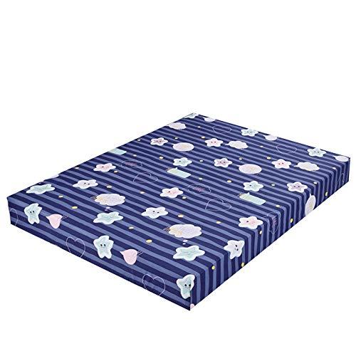 XGguo Protector de colchón de bambú Funda de colchón y Ajustable Sábana de Cama Impresa Funda Protectora cepillada-9_160X200 + 25cm