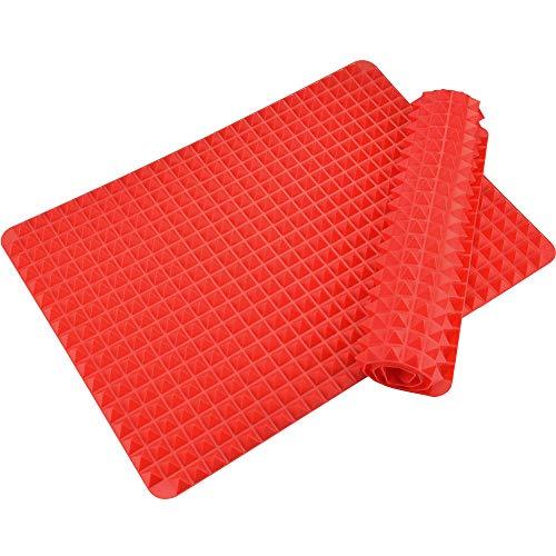 AFASOES 2 Stück Silikon Backmatte Wiederverwendbare Backunterlage Silikon Dauerbackmatte Hitzebeständig Silikonmatte Silikonbackmatten für Brotbackautomat und Wüstenkuchen-Makronen-Backwerkzeuge