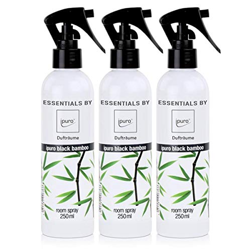 Essentials by ipuro Dufträume Raumspray black bamboo Duftspray 250ml (3er Pack)