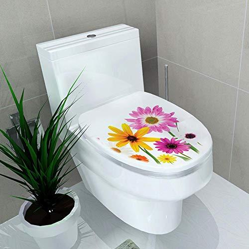 LIANA IRWIN Bathroom DIY Toilet Seat Wall Sticker Decoration, 3D Toilet Home Decal Black Sea Creature Wall Art Sticker Tentacles Bathroom Decal for Toilet Seat