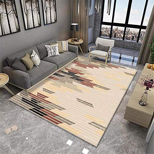 DJHWWD Kids Rugs For Bedrooms Boys grey Living room carpet gray simple pinstripe pattern anti-mite carpet soft Carpet For Home 140X200CM Kids Bedroom Rug 4ft 7.1''X6ft 6.7''