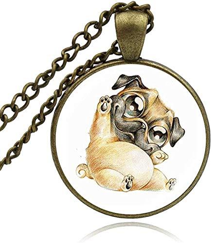 Collar 25 Mm cabujón Colgante Collares Perro Lobo Mascota Moda Animal Arte Cristal cabujón Collar Mujer Hombre niñas joyería Regalo