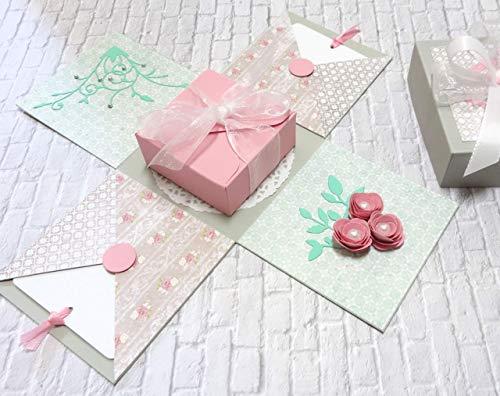 Geldgeschenk Verpackung zur Hochzeit Geburtstag Geburtstagsgeschenk Hochzeitsgeschenk Explosionsbox