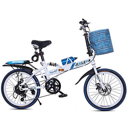TGhosts Plegable bicicletas, bicicletas plegables variable plegable velocidad de bicicletas estudiante adulto ultra portátil de amortiguación bicicleta de montaña los hombres y las mujeres 20inches de
