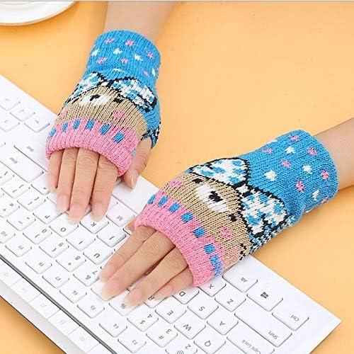 1Pair Spring Women Warmer Women Gloves Winter Fingerless Knit Mittens Button Gloves 2017 New - (Color: 12, Gloves Size: One Size)