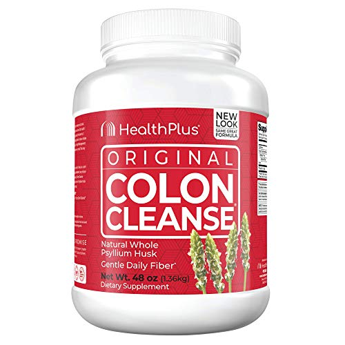 Health Plus Colon Cleanse - Natural Daily Fiber - Gluten Free, Detox, Heart Healthy (48 Ounces, 194 Servings)
