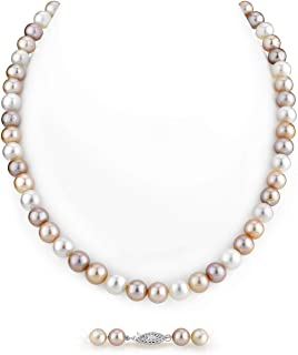 """Nouveau Long 42/"""" 8-9 mm Baroque Multicolor Freshwater Pearl Necklace AAA"""