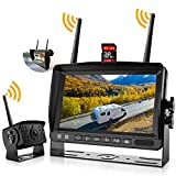 Wireless Backup Camera System, IPOSTER Wireless Backup Camera with DVR Recording Function for Car RV Truck...