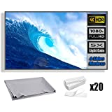 Projection screen, 120 inches 16:9 HD foldable anti-folding portable portable projector movie screen, used for...