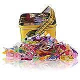 Wonder Clips-Packung mit 100 Pieces Mehrzweck Nähen Clips Craft Zubehör zum Nähen, Quilten, Häkeln, Basteln und Stricken, Tin Box-Paket, verschiedene Farben