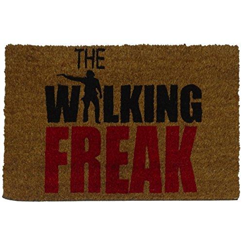 koko doormats Felpudo con Diseño Walking Freak, PVC, Coco, 40 x 60 cm