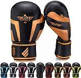 5. Elite Sports Boxing Gloves for Men, Women, and Kids, Kickboxing Punching Bag Pair of 2 Gloves (Copper 12 Oz)