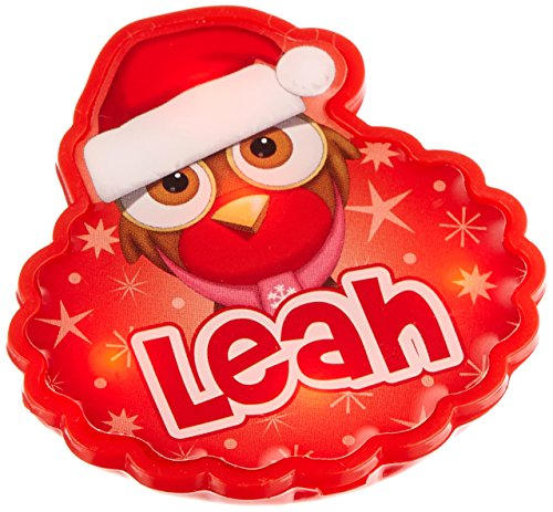 John Hinde Leah My Name Flashing Badge