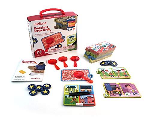 Miniland- Divertido Juego para Aprender la resolución de conflictos y emociones, Multicolor...