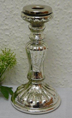 Nostalgie Bauernsilber Kerzenständer Kerzenhalter 18 cm