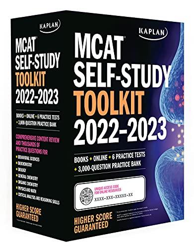 MCAT Self-Study Toolkit 2022-2023: Books + Online + 6 Practice Tests + 3,000-Question Practice Bank