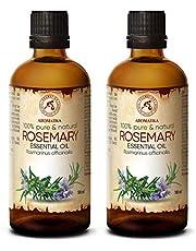 Rozemarijn olie - etherische olie SET 2x 100ml, 100% puur & natuurlijk, essentiële olie - aromatherapie - geurolie - geurverspreider - ontspanning - toevoegen aan bad & cosmetica - massage - wellness - aroma lamp of elektrische diffuser
