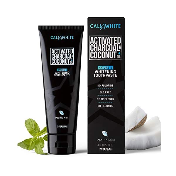 Cali White Activated Charcoal Organic Coconut Toothpaste