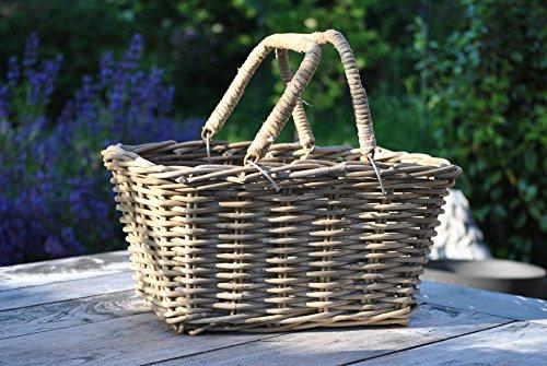 Weidenkorb,Picknickkorb,sehr stabil,bepflanzbar,für Brennholz,46cm