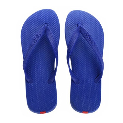 Casual Tongs Unisexe Plage Chaussons Anti-Slip Maison Slipper Bleu royal