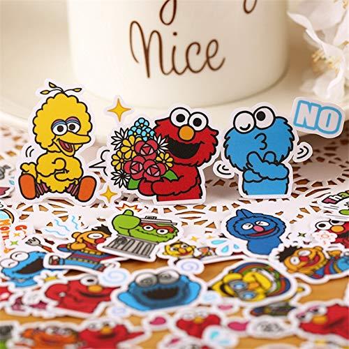 Mini perfil Monster pegatinas de papel para manualidades y álbumes de recortes, juguetes para niños, etiquetas engomadas decorativas, 35 unidades