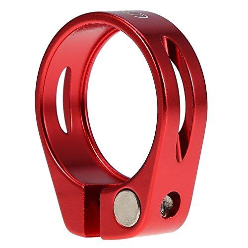 Abrazadera de Sillín de Bicicleta para 30.4 / 30.8 / 31.6mm ( Color : Rojo )