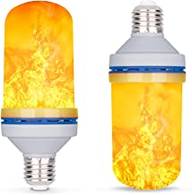 LED Flame Effect Light Bulb, E26 4W 4 Modes with Gravity Induced Decorative Light Fire Flickering Atmosphere Lighting Vint...