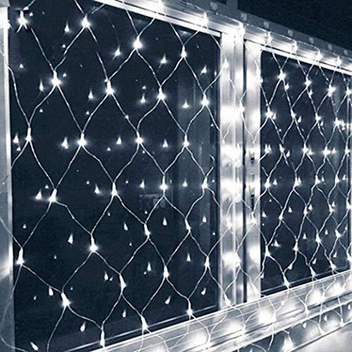 ZHJIUXING CC LED Net Light Garden Net Fairy Tale Outdoor Waterproof White, Curtain Light christmas window lights 3 * 3m, 2 * 2m
