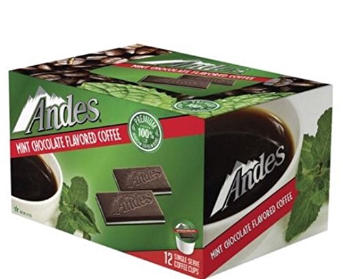 Andes Mint Chocolate Flavored Coffee Cups, 12 Count