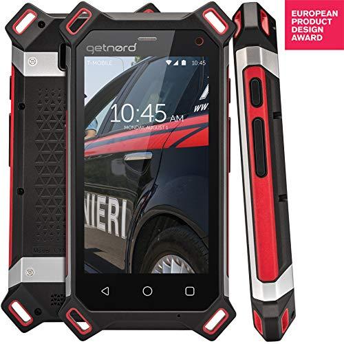 Getnord Lynx Robustes Smartphone, IP68, Stoßfest, Wasserdicht, stärkster 1,8-mm-Display, 6000mAh, drahtlose Aufladung