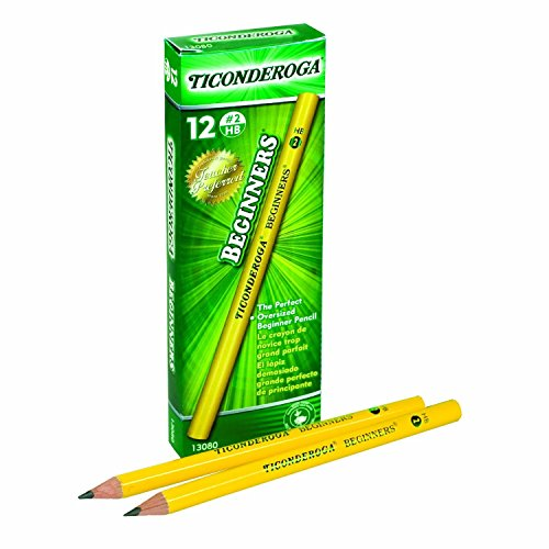 Dixon Ticonderoga Beginners Primary Size #2 Pencils Without Eraser, Box of 12, Yellow (13080)(2Pack)