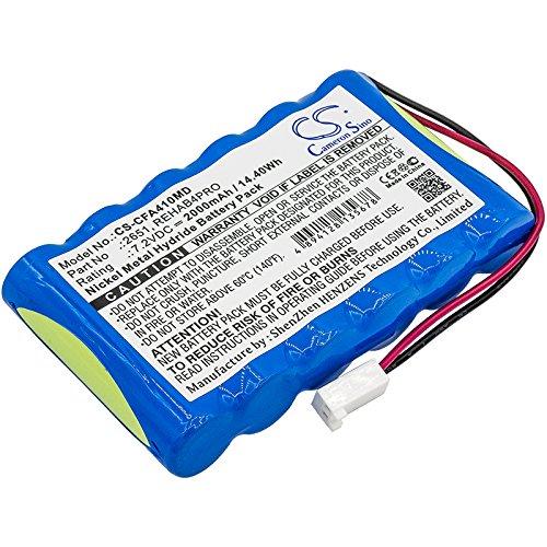 CS-CFA410MD Batería 2000mAh Compatible con [CEFAR] Activ 4, Bodymax Trainer (NGSF4), Myo 4, Rehab 4 Pro sustituye 2651, REHAB4PRO