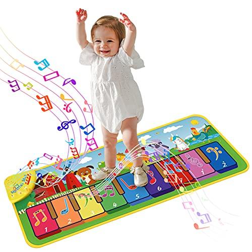 onozio Piano Matte,Klaviermatte Musikmatte Tanzmatte Kinder,Kindertanzmatten Spielteppich für Jungen Mädchen 1–6 Jahre
