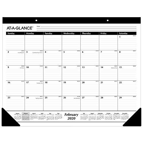 AT-A-GLANCE 2020 Desk Calendar, ...