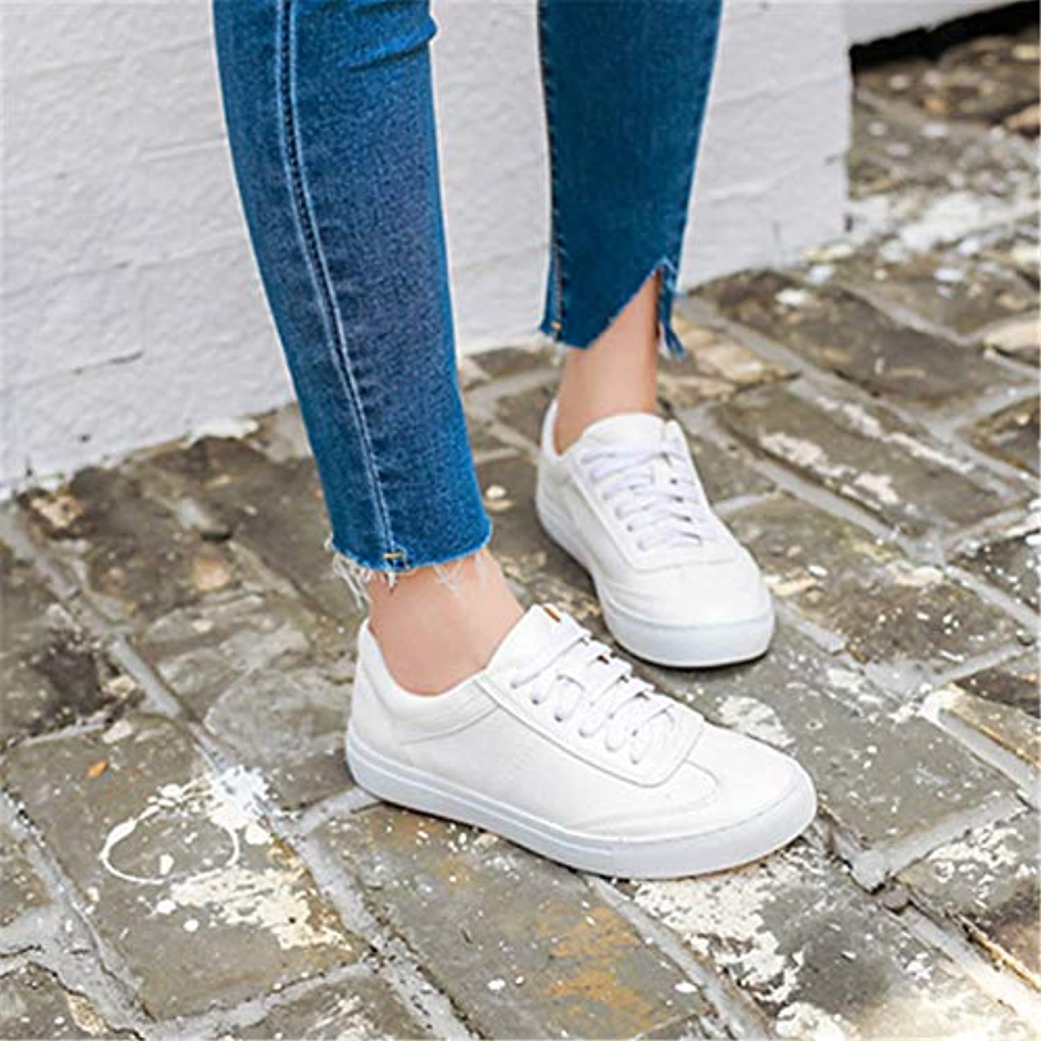 Women's shoes Pigskin Spring Comfort Sneakers White