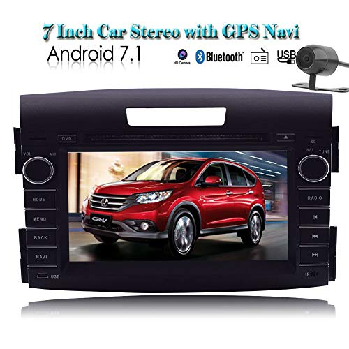EINCAR 7' Android?7.1 Operation System Quad Core CPU Car DVD Player Special For Honda CRV-V 2012-2013 Capacitive Touch Screen Car Stereo Radio GPS Navigation with Free 3D Map Rear View Camera Blue