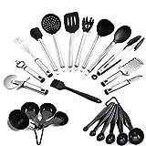 23 Piezas BBQ Tool Set Juego de Utensilios de Cocina de Silicona Juego de utensilios de cocina, juego de utensilios de cocina, juego de espátulas, juego de medición de tazas.