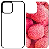 5X Sublimation Rubber Black Cases Compatible with iPhone 12 - Blank Cases and Aluminum Inserts for Dye Sublimation/Blank Phone Cover Printable Cases, Made by INNOSUB USA