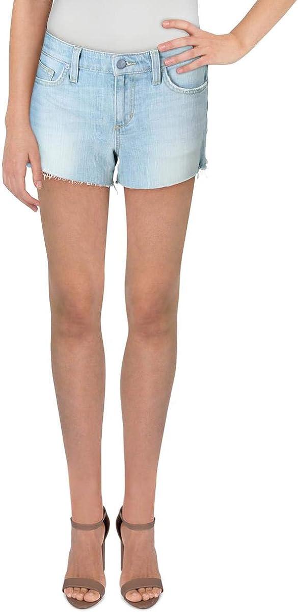 Joe's Jeans Womens Mid-Rise Raw Hem Cutoff Shorts