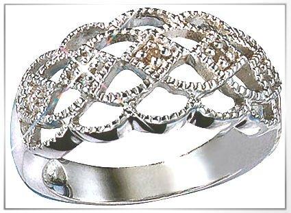 Avon Sterling Silver Genuine Diamond Ring in Gift Box