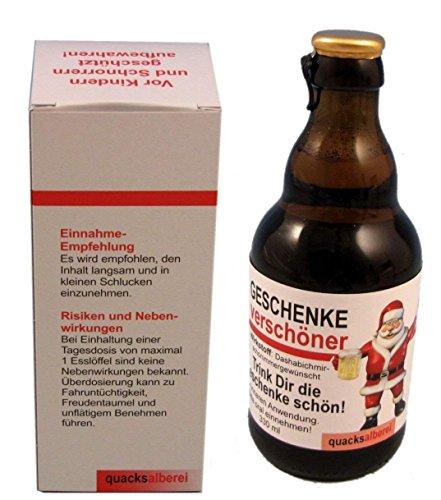 """Witzige Bierflasche """"Weihnachts-GeschenkeVerschönerer"""", Bier 0,33 l"""