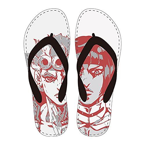 Zapatillas de Baño Casa JoJo's Bizarre Adventure Pantuflas Hombres Mujeres Verano Parejas Manga Chanclas Diversión Misda Sandalias Informal playa Suela blanda Zapatos de piso-1106_39-40 (260 mm)