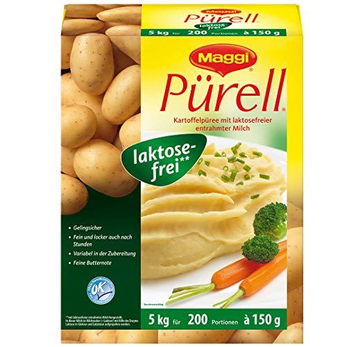 Maggi Pürell Kartoffelpüree laktosefrei, authentische Stampfkartoffeln mit feiner Butternote, 1er Pack (1 x 5kg Karton)