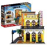 DAN DISCOUNTS 3158 bloques de construcción para arquitectura, Cafe Havana Shining con iluminación LED, juego de construcción modular, compatible con Lego