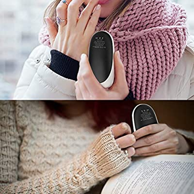 Fenvella USB Hand Warmers Electric Rechargeable Pocket Hand Heater Double-Side Fast Heating Portable Power Banks 5200mAh 2A for All Smartphones,Best Gifts For Men and Women Kids in Cold Winter